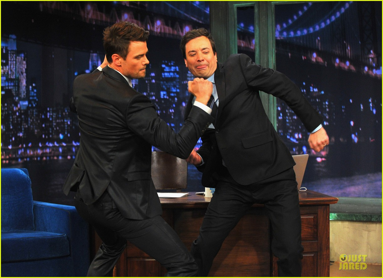 josh duhamel cooler races on fallon 032810967