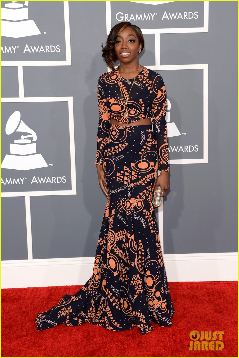 estelle janelle monae grammys 2013 red carpet 012809155
