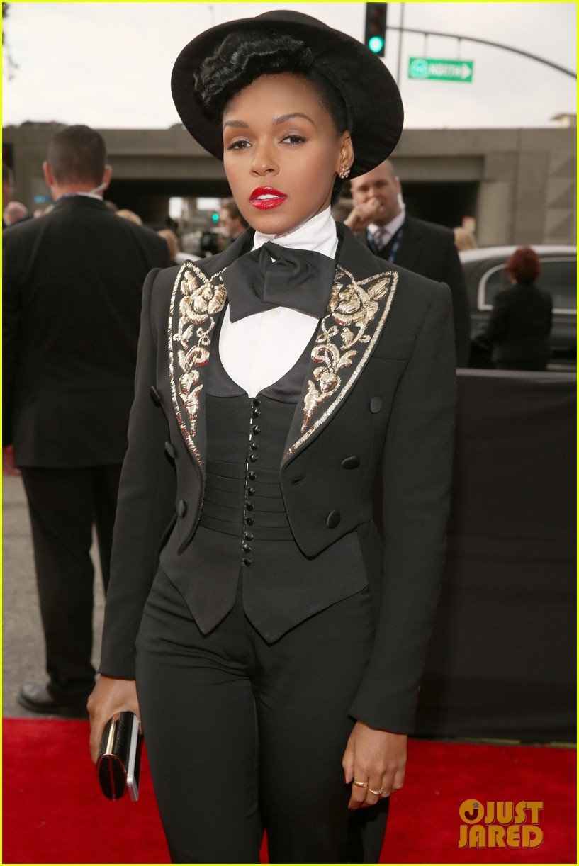 estelle janelle monae grammys 2013 red carpet 042809158