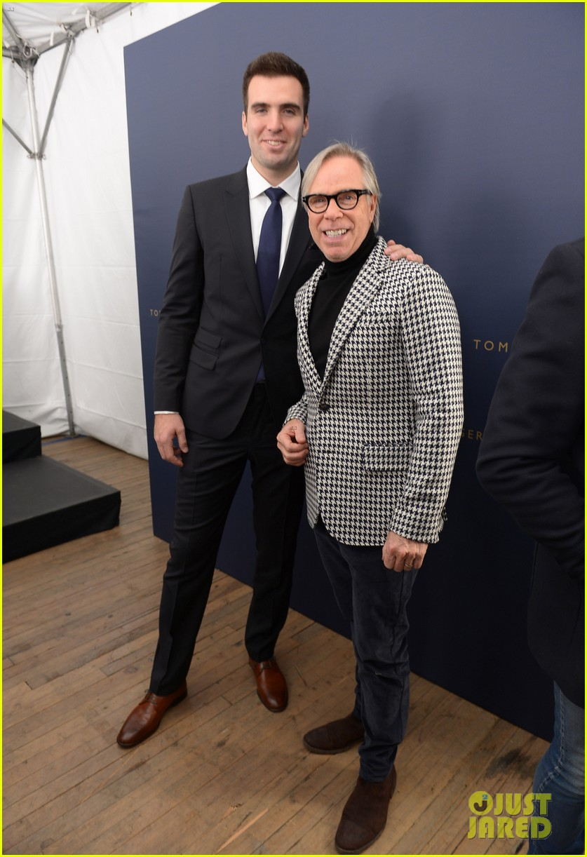 joe flacco tommy hilfiger fashion show with wife dana 032807620