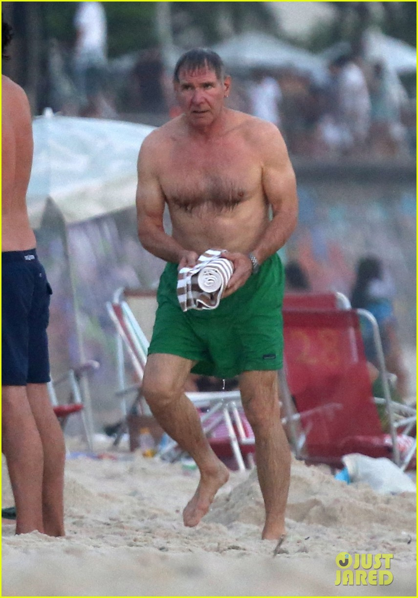 harrison ford shirtless beach stud in rio 01