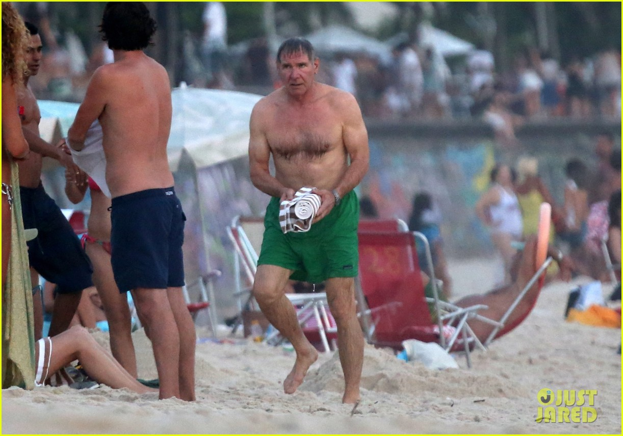 harrison ford shirtless beach stud in rio 04