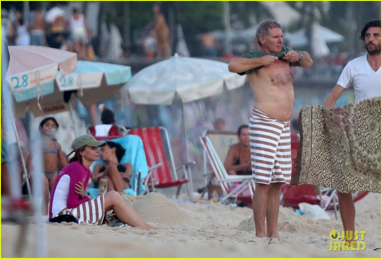 harrison ford shirtless beach stud in rio 05