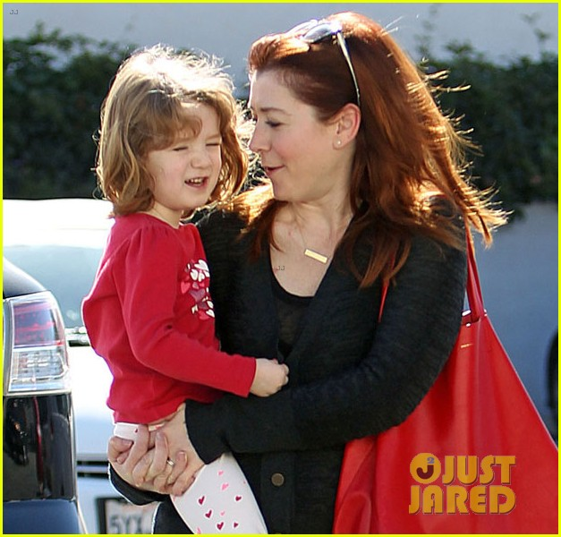alyson hannigan alexis denisof saturday fun with the kids 02