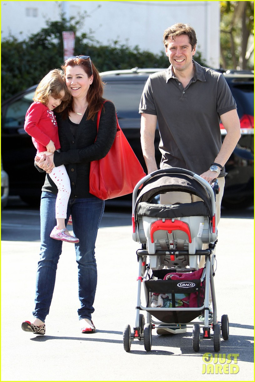 alyson hannigan alexis denisof saturday fun with the kids 032814005