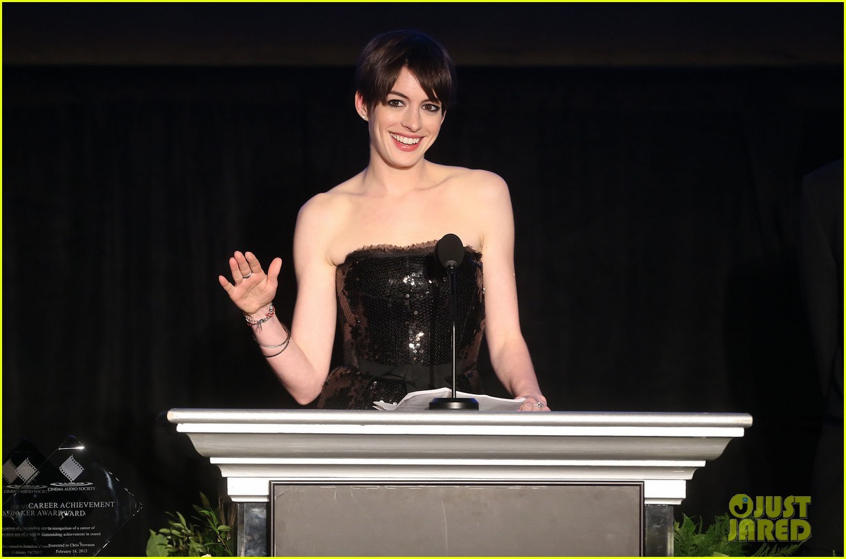 anne hathaway cinema audio society awards 2013 182813785