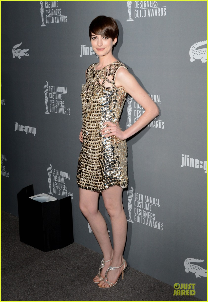 anne hathaway cdg awards 2013 red carpet 012815440