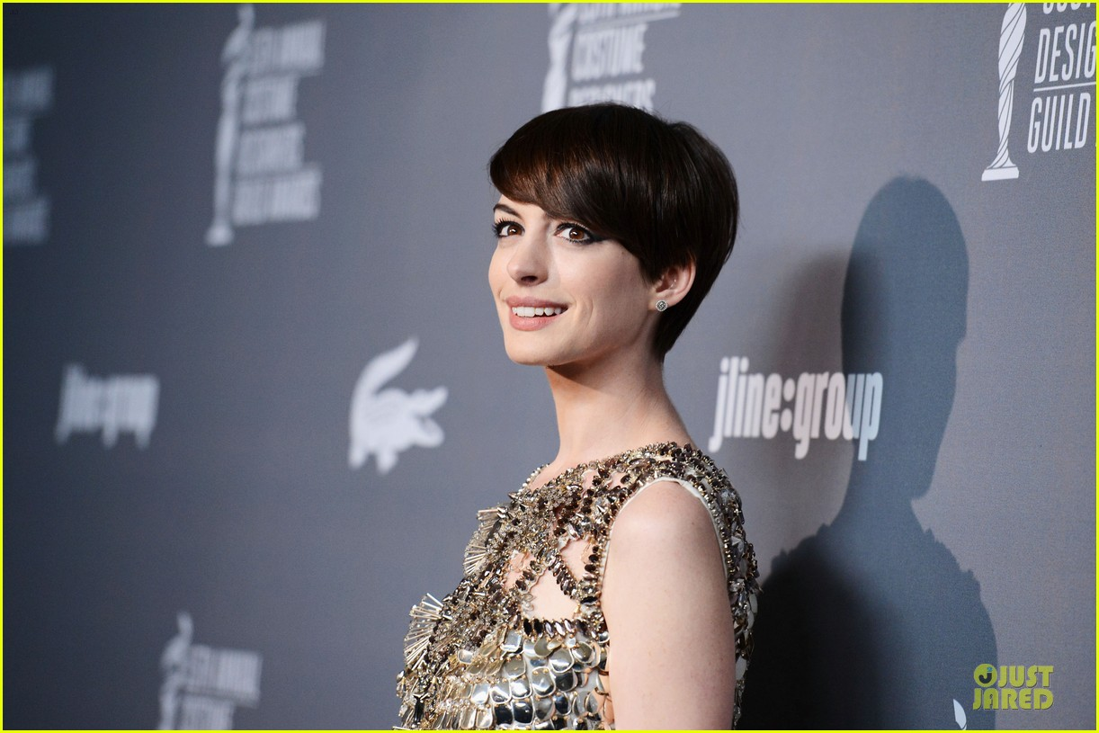 anne hathaway cdg awards 2013 red carpet 122815451