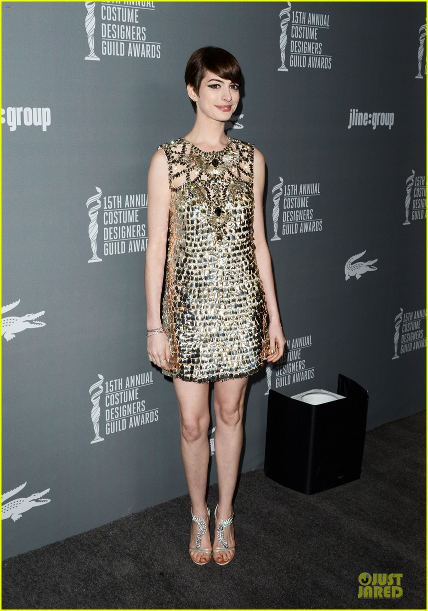 anne hathaway cdg awards 2013 red carpet 132815452