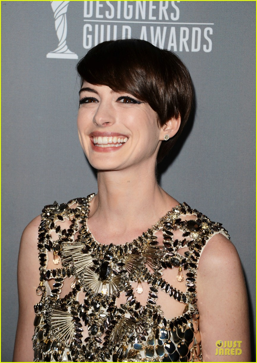 anne hathaway cdg awards 2013 red carpet 142815453