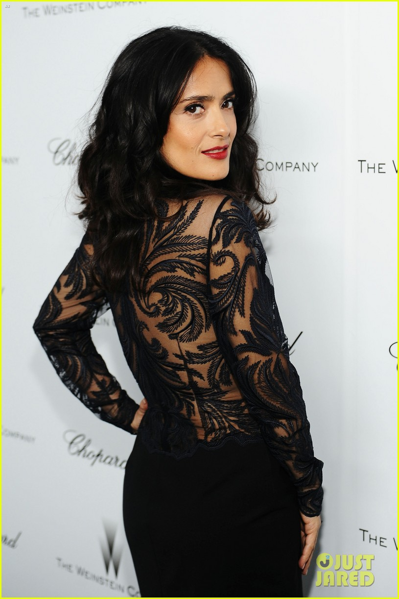 salma hayek weinstein pre oscars party 2013 25