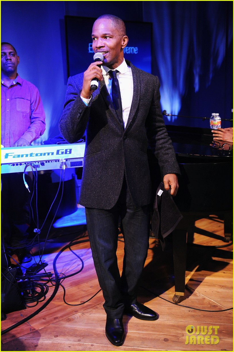 jennifer hudson super bowl party with jamie foxx 052803692