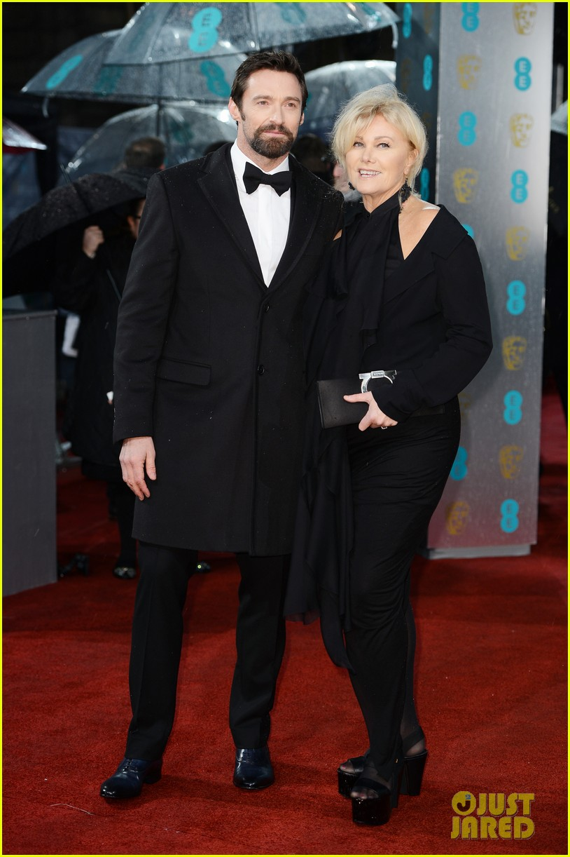 hugh jackman baftas 2013 red carpet 012808847