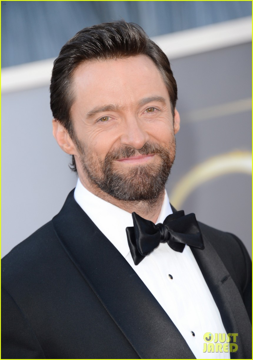 hugh jackman oscars 2013 red carpet with deborra lee furness 022819264