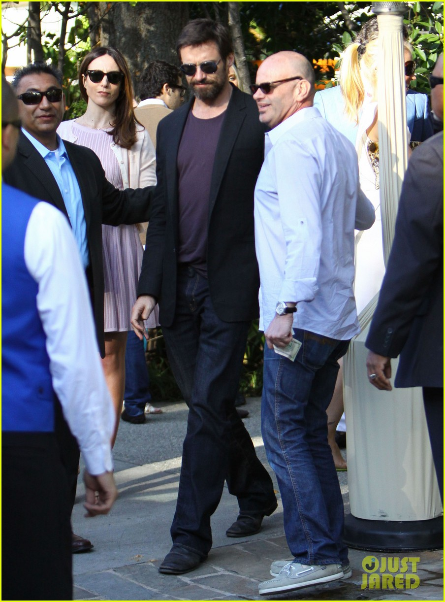 hugh jackman pre oscar party at coldwater canyon park 102818300