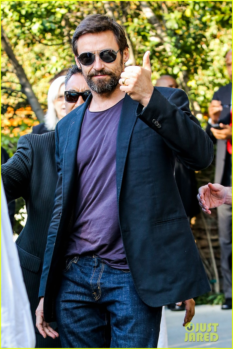 hugh jackman pre oscar party at coldwater canyon park 13