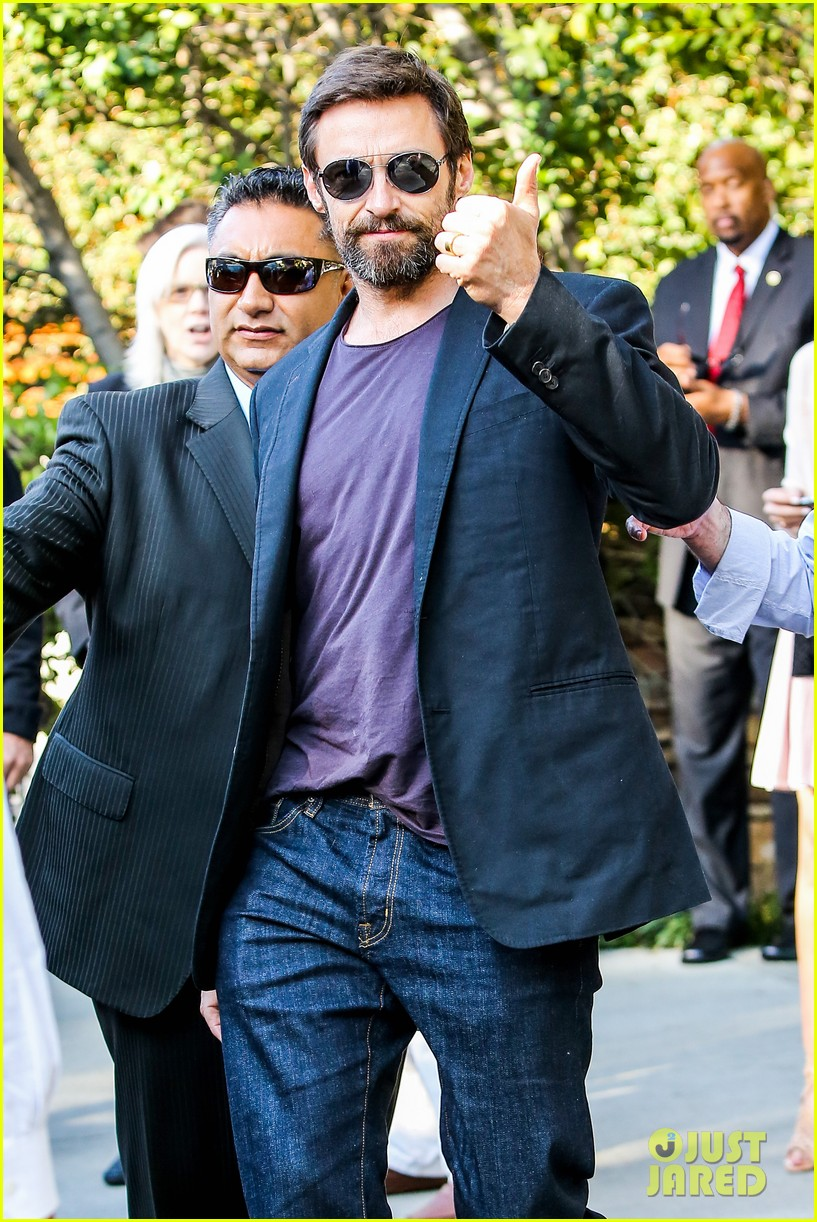 hugh jackman pre oscar party at coldwater canyon park 15