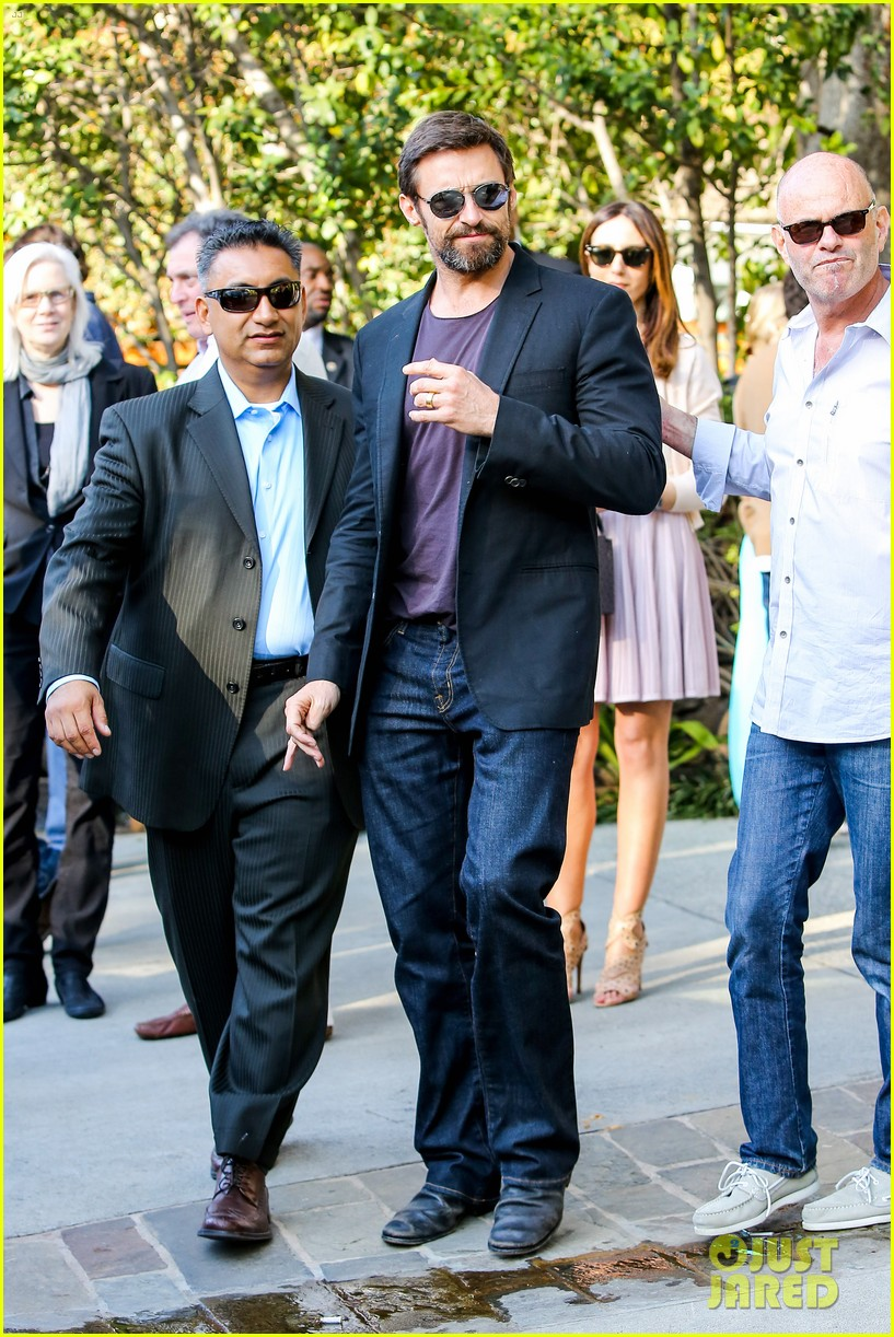 hugh jackman pre oscar party at coldwater canyon park 17