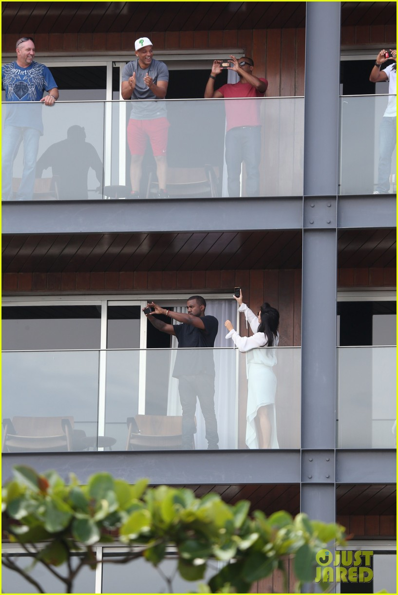 kim kardashian kanye west balcony fun with will smith 212810170