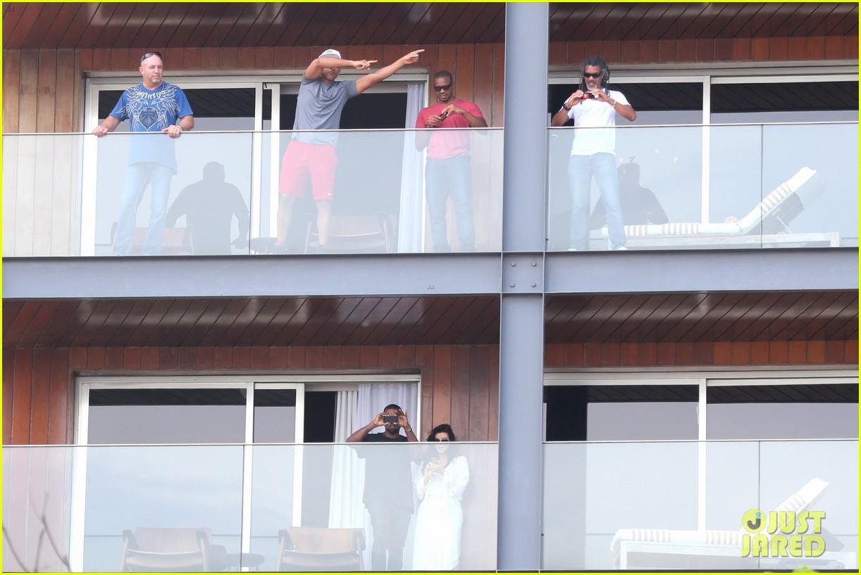 kim kardashian kanye west balcony fun with will smith 222810171