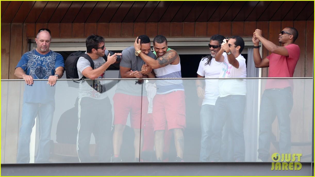 kim kardashian kanye west balcony fun with will smith 242810173