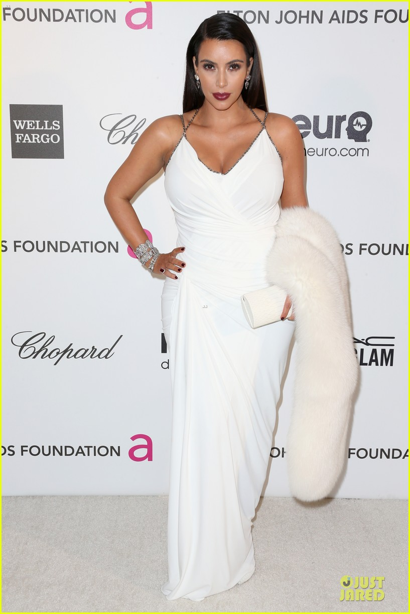 kim kardashian elton john oscars party 2013 05