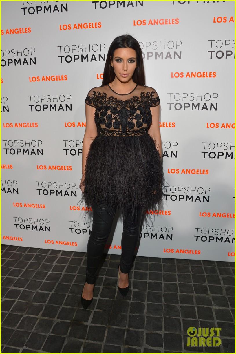 kim kardashian topshop topman opening party 01
