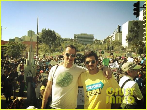 miranda kerr supports orlando bloom at climate change rally 052814184