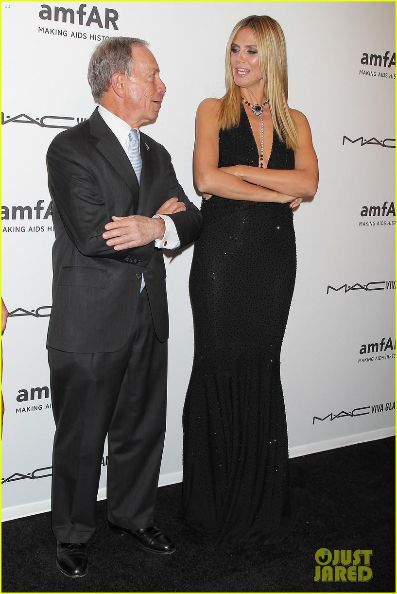 heidi klum anne v amfar new york gala 2013 14