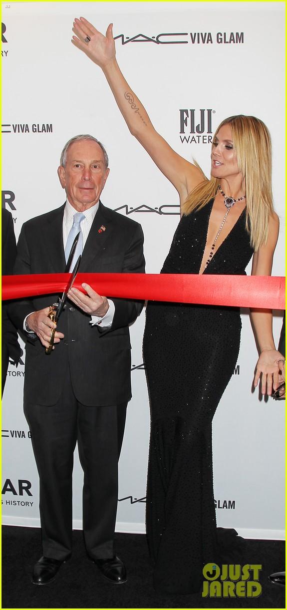 heidi klum anne v amfar new york gala 2013 16