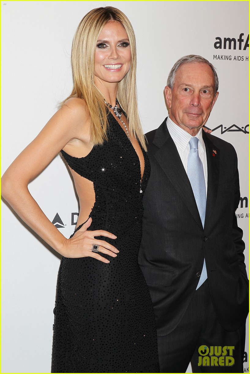 heidi klum anne v amfar new york gala 2013 22