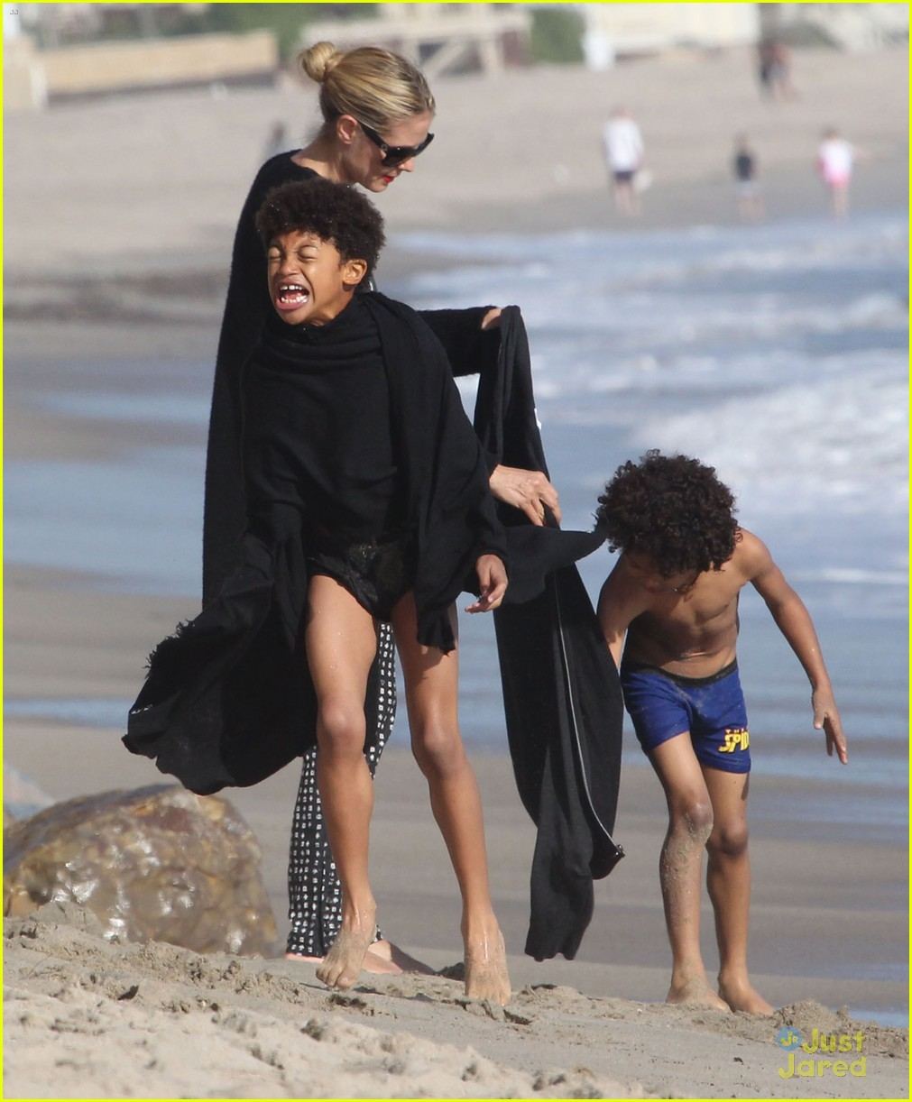 heidi klum martin kirsten beach day with the kids 282814918