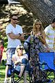 heidi klum martin kirsten beach day with the kids 57