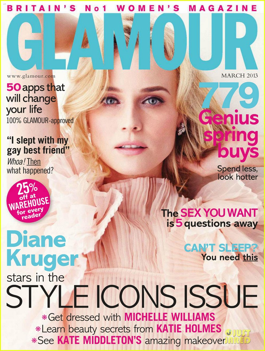 diane kruger covers glamour uk magazine march 2013 022804805