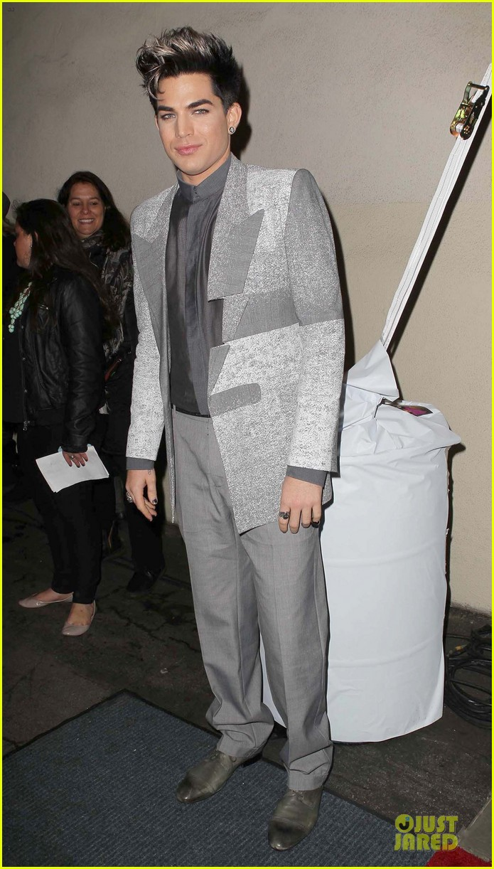adam lambert pre grammy friends n family event 05