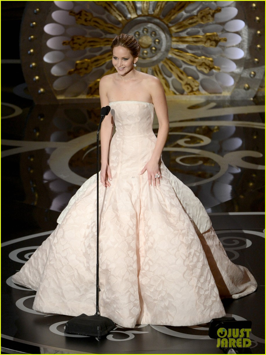jennifer lawrence wins best actress falls on stage 132819865