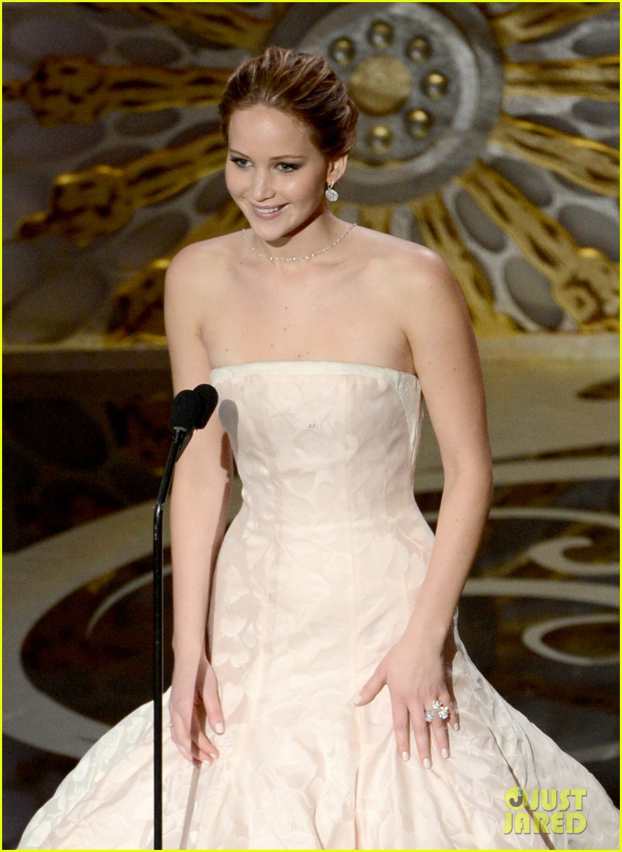 jennifer lawrence wins best actress falls on stage 28