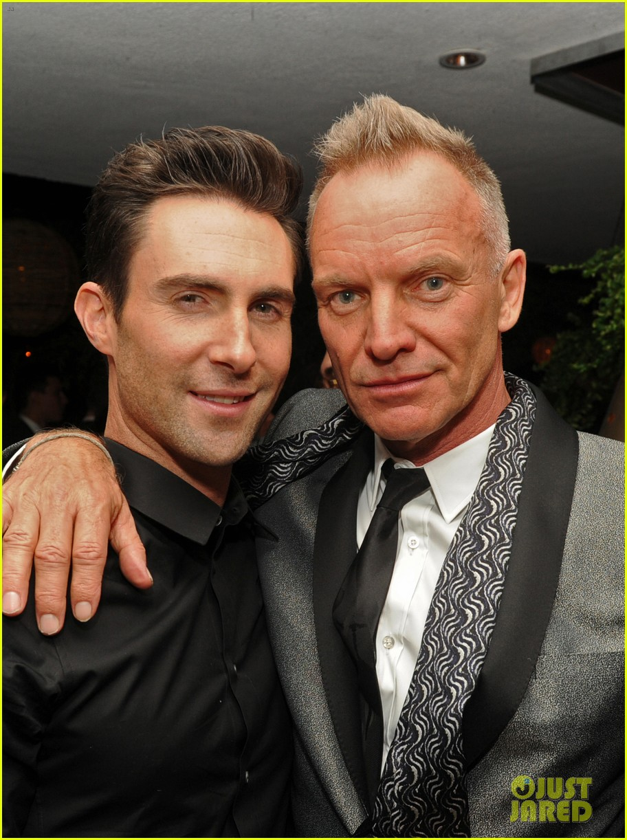 adam levine sting maroon 5 grammys after party 2013 062809943