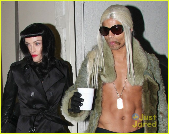 madonna kabbalah costume party with shirtless brahim zaibat 032818812