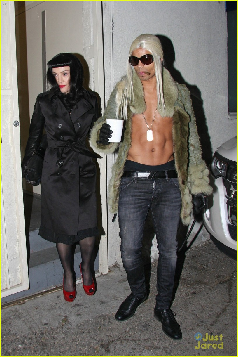 madonna kabbalah costume party with shirtless brahim zaibat 05