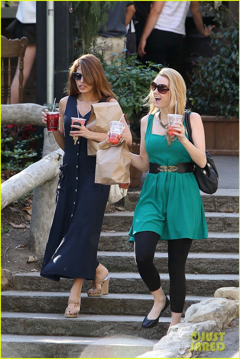eva mendes the trails at griffith park lunch 032813723