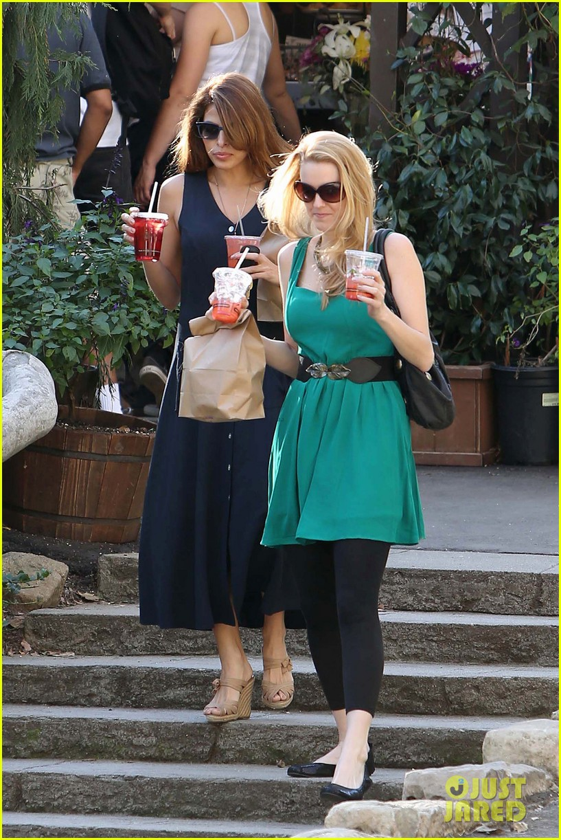 eva mendes the trails at griffith park lunch 052813725
