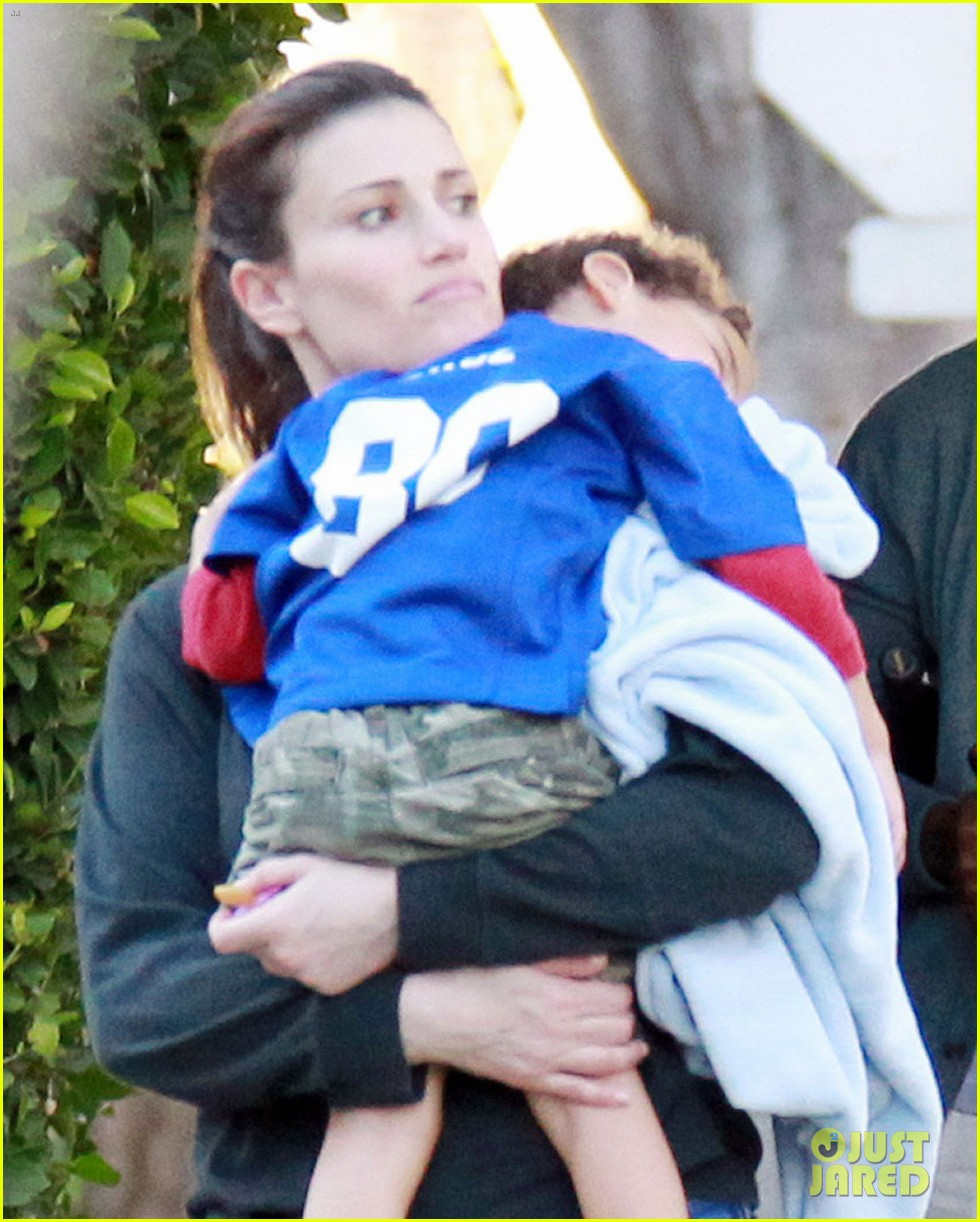 taye diggs idina menzel super bowl party with walker 042804562