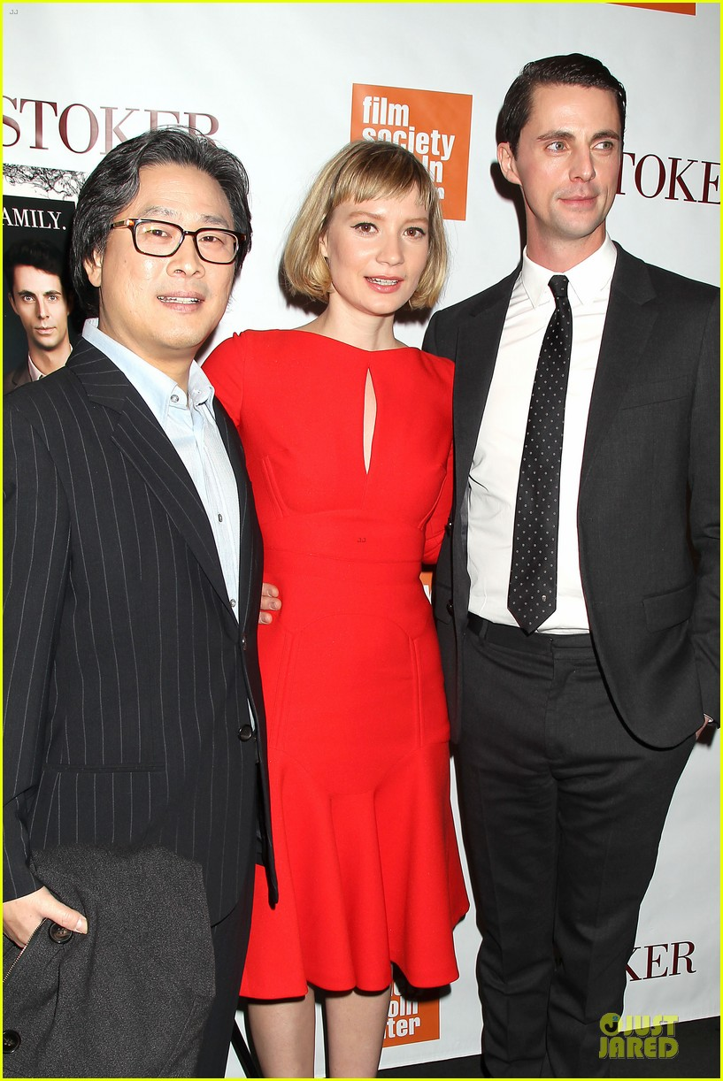 mia wasikowska matthew goode stoker new york screening 022822113
