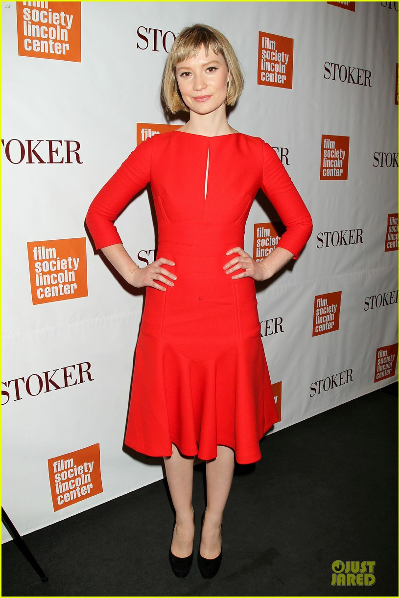 mia wasikowska matthew goode stoker new york screening 112822122