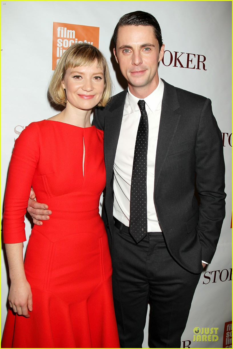 mia wasikowska matthew goode stoker new york screening 142822125