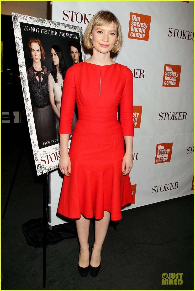 mia wasikowska matthew goode stoker new york screening 152822126