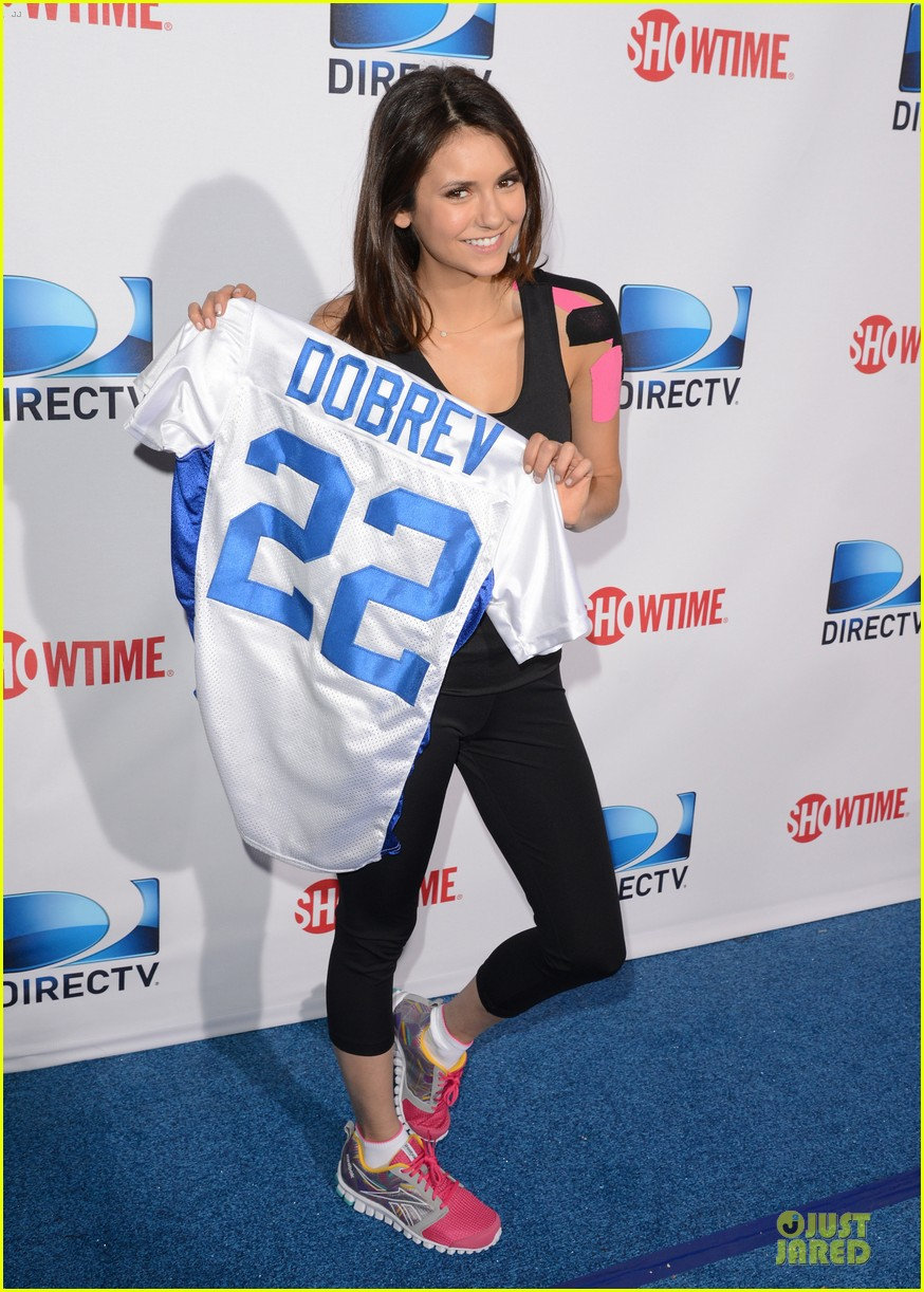ian somerhalder nina dobrev celebrity beach bowl party couple 082803195
