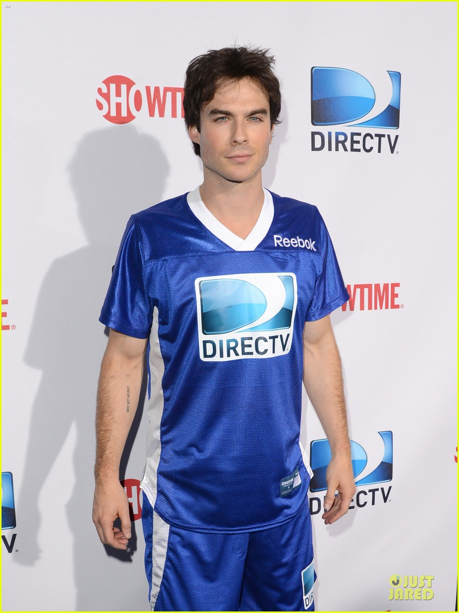 ian somerhalder nina dobrev celebrity beach bowl party couple 102803197