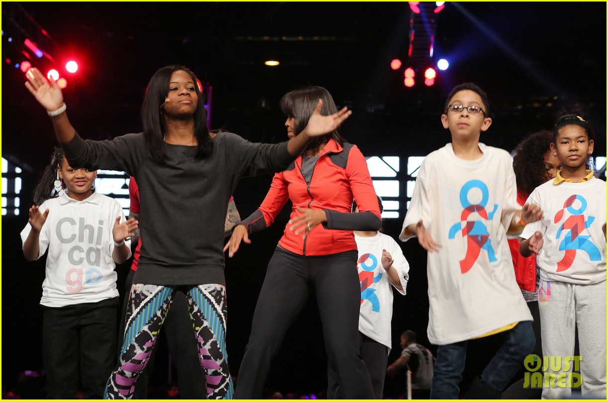 michelle obama school exercise program with jordin sparks 25